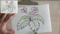 【亲子教育】小咛咛儿童画教程 牵牛花
