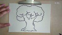 【亲子教育】小咛咛儿童画教程 大树