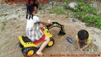 亲子益智玩具219 挖掘机视频表演大全 儿童玩具电动叉车可坐可骑汽车工程车挖土机推土机装载机宝宝巴士迪士尼水果切切看猪猪侠熊出没总动员玩具 儿歌-快乐的小可爱