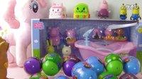 奇趣蛋惊喜蛋出奇蛋玩具第4期:变形警车珀利,小猪佩奇玩具总动员 爱探险的朵拉历险记