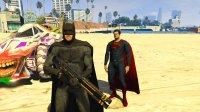 亚当熊 GTA5:蝙蝠侠携手超人对抗洛城病毒