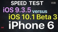 iPhone 6 - iOS 9.3.5 vs iOS 10.1 Beta 3 速度測試 - 性能測試!@成近田
