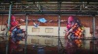 4位涂鸦艺术家挑战国外最大的废弃工厂 能成否?