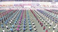 【航拍●高清】历城全民健身运动会体操表演16.9