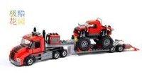 【极酷花园】乐高 城市模型『巨轮卡车运输车』制作过程(60027)【乐高创乐系列】