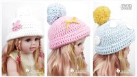 【A012】羊羊编织_百搭男女宝宝帽子,花朵蝴蝶结等配件的钩法