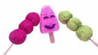 雪花彩泥手工制作好吃的冰糖葫芦冰淇淋 日本食玩亲子益智DIY