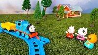 托马斯和他的朋友们:小猪佩奇泡泡池塘 托马斯小火车 粉红猪小妹 佩佩猪 儿童玩具