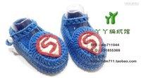 【小脚丫】超人(小码鞋带)超高清婴儿毛线鞋宝宝毛线编织鞋毛线编织教程