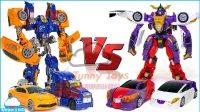 变形金刚大黄蜂 擎天柱组合 VS 魔幻车神 Mecard 撼地神像与惊天神鹫的合体 Gryphinx 车辆机器人车玩具 【 俊和他的玩具们 】