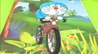 哆啦a梦骑自行车 叮当猫涂鸦填色