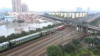 [火车][大十字]HXD1D+25G[K371]太原-上海 上局沪段十字下行