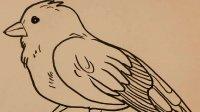 简笔画教程-画小鸟 学画简笔画教程 儿童学画画教学 小孩学画画视频 亲子教育幼儿学美术【乐成宝贝】