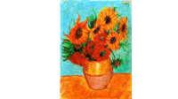 油画棒作品 梵高的向日葵 惊呆了有木有