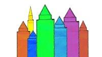 美丽的城堡折纸教程 折一座城堡 亲子手工折纸教程益智游戏