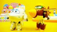超级飞侠 变形机器人 金刚和米莉 变形玩具