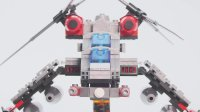 红色警戒Ⅲ双刃武装直升机-乐高 LEGO积木魔拼