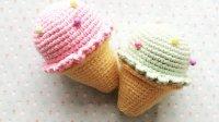 (第11集)安琪拉手作 毛线编织甜筒冰淇淋 新手零基础视频教程