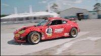 搭载法拉利引擎的丰田GT4586在漂移方程式赛奥兰多站