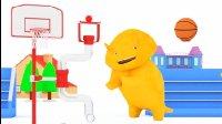 恐龙戴诺 第43集 🏀 玩扭扭乐并学习颜色 👶 幼儿教育卡通