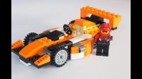 乐高搭建: 百变创意系列31017 C模式-硬朗的橙色赛车