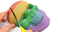动态沙头骨蛋糕DIY学习颜色煤泥惊喜玩具
