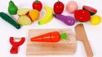 切割假装玩食物学习颜色与水果和蔬菜