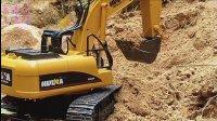 挖土机工作视频表演 挖掘机模型示范