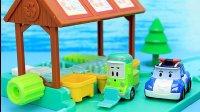 变形警车珀利 珀利警长和克里尼在垃圾回收站