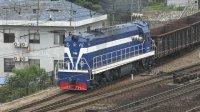 [火车][增压注意]DF5+货车底出站 广铁沙段 捞刀河火车站