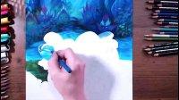 大神手绘《蓝精灵寻找神秘村》, 堪比电影高清海报