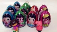 奇趣蛋玩具视频佩佩猪和爱探险的朵拉拆女孩版奇趣蛋