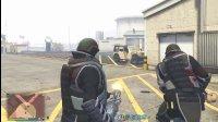亚当熊GTA5 去军事基地抢劫装甲衣,这个衣服竟然能扛大炮