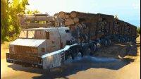 旋转轮胎 超重型超长军车运输木头