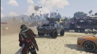 亚当熊GTA5史上最强重型装备空降,帮派大战警察