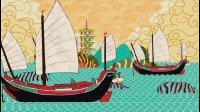 他造了一条中国古帆船, 上面有书店和老船长的故事