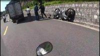 巧格i GPR125 KPT200 叛逆者车队跑山走野路摔车遇车祸