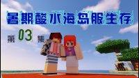 【甜萝酱我的世界MC服务器生存实况】Minecraft暑期酸水海岛服生存Ep.3 莲花岛