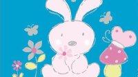 自制大白兔手工剪纸