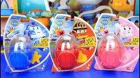 韩国玩具 变形警车珀利三个奇趣蛋套装