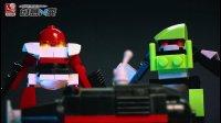 积木定格动画: 2个机器人街头打斗, 众小弟前来帮忙, 结局却出人意外!