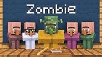 我的世界-Minecraft动画村民对抗僵尸的故事【1】