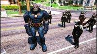 亚当熊GTA5 反派达克赛德登场,准备灭一个正义联盟