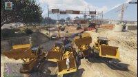 亚当熊GTA5 蓝翔挖掘机集体出动,场面壮观