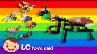 昆虫小纵队变形拼装合体螳螂击败粘土大嘴怪玩具