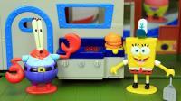 海绵宝宝玩具屋 海绵宝宝在蟹老板餐厅工作