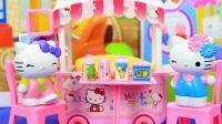 HelloKitty玩具 凯蒂猫的手推食物车