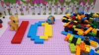 小马宝莉和七星瓢虫一起玩积木游戏学数字学汉语10