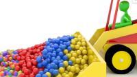 色彩英语彩虹水杯儿童英语色彩糖果水杯形状数字英语还有玩具铲车少儿英语ABC
