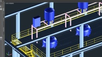 三维工厂 Plant 3d 2017 设备之板式换热器的创建